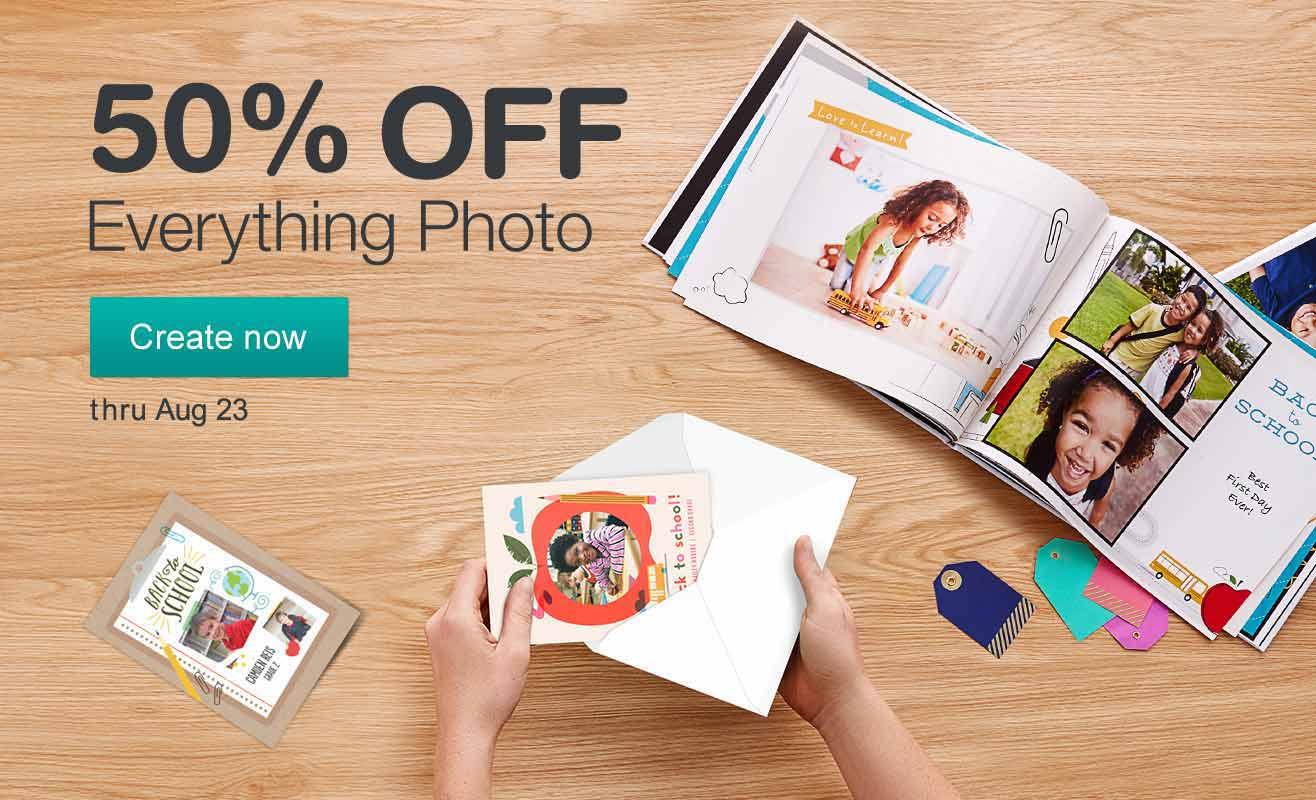 50% OFF Everything Photo. Create now thru Aug. 23.